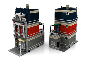city bauanleitungen modular building out of lego haus house. Black Bedroom Furniture Sets. Home Design Ideas