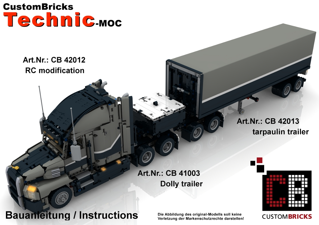 CUSTOMBRICKS de - LEGO Technic model Custom MACK Dolly - Trailer