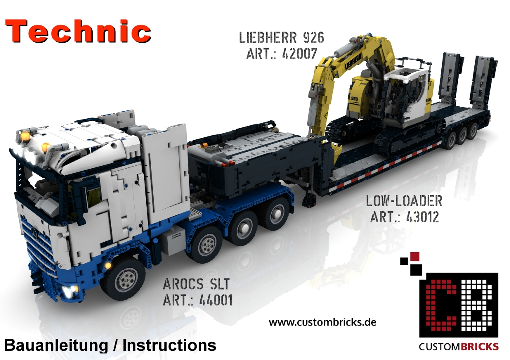 Custombricks Lego Technic Model Arocs Slt Rc Truck