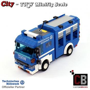 lego custom city modell thw fahrzeuge radlader anhaenger moc. Black Bedroom Furniture Sets. Home Design Ideas