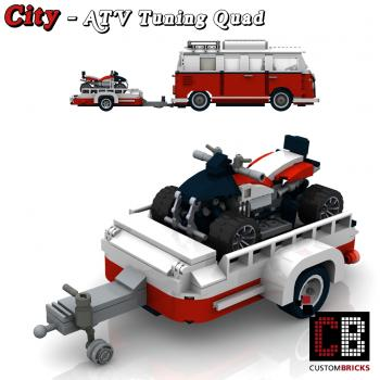 lego city anh nger wohnwagen caravan fahrzeug trailer gep ckanh nger camper vw. Black Bedroom Furniture Sets. Home Design Ideas