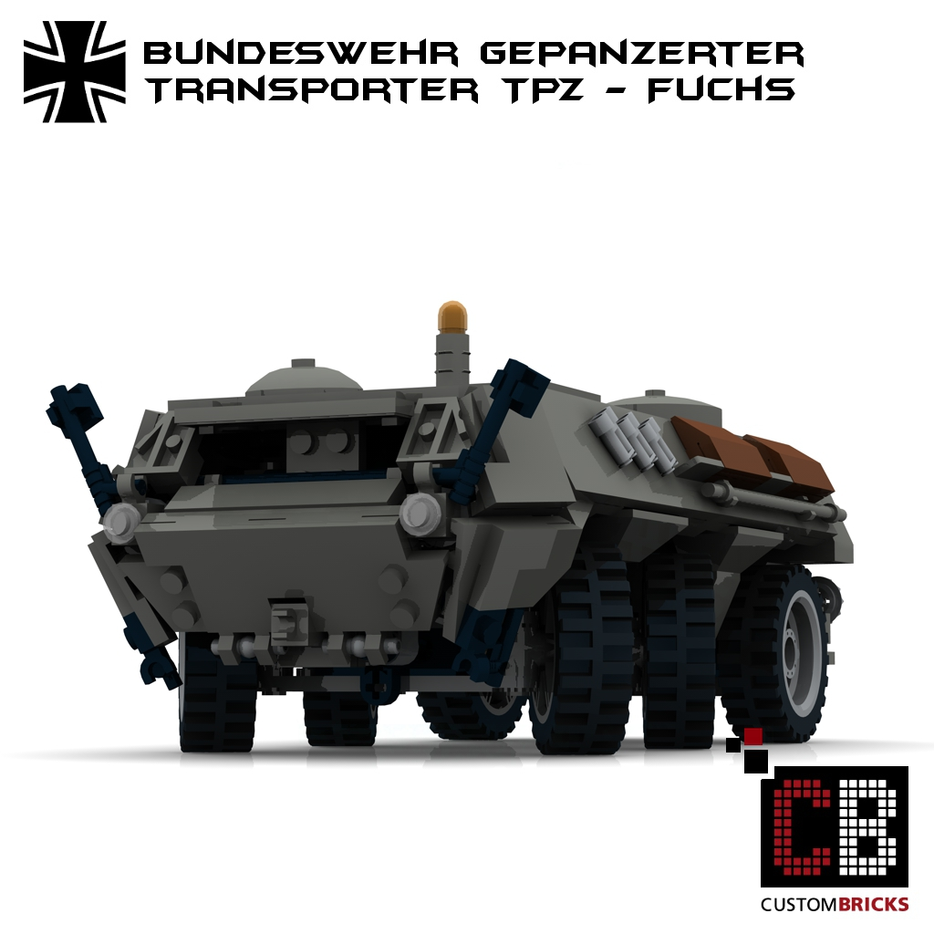 lego custom bundeswehr tpz fuchs grau. Black Bedroom Furniture Sets. Home Design Ideas