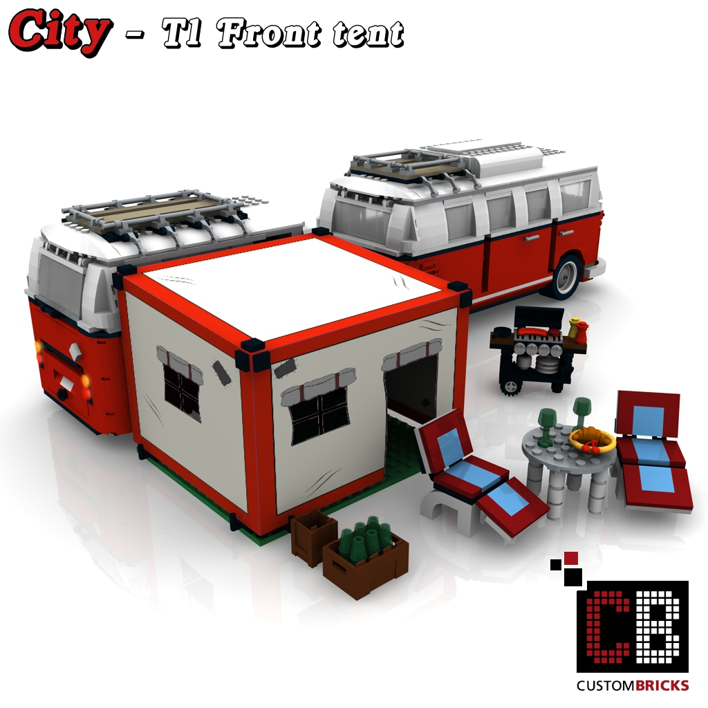 lego city anh nger fahrzeug trailer gep ckanh nger camper vw t1 bus 10220. Black Bedroom Furniture Sets. Home Design Ideas