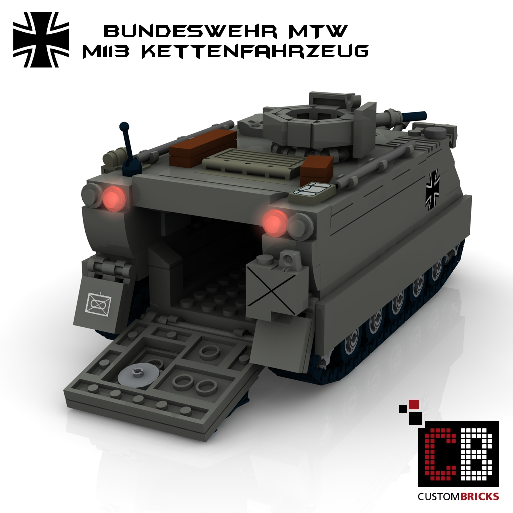 lego custom moc bundeswehr mtw m113 m113a1 mg50 la design custombricks custom. Black Bedroom Furniture Sets. Home Design Ideas