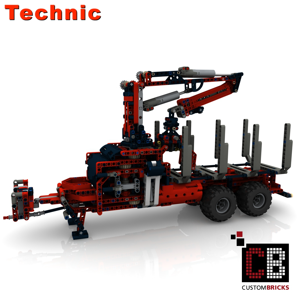 lego technik modell custom claas 2 achs. Black Bedroom Furniture Sets. Home Design Ideas