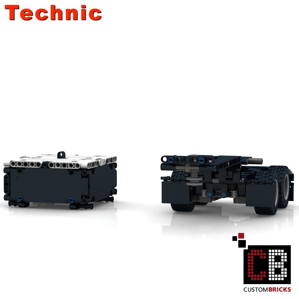 lego technic truck trailer instructions