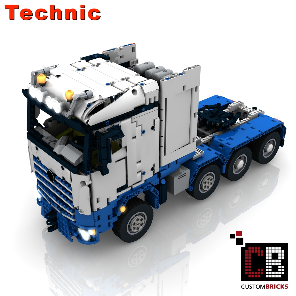 lego technik modell arocs slt rc truck custombricks moc bauanleitung. Black Bedroom Furniture Sets. Home Design Ideas