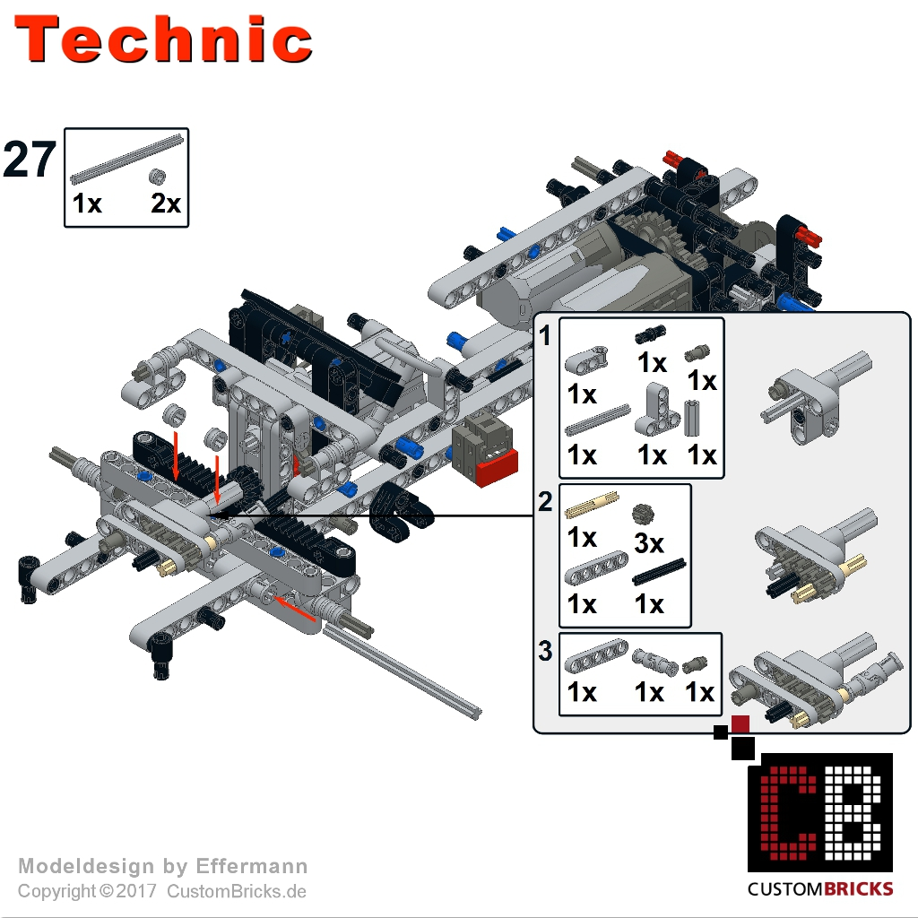 Lego technic model custombricks moc for Modele maison lego classic