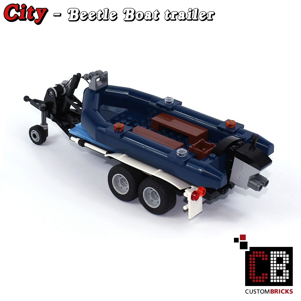 how to build a lego boat trailer