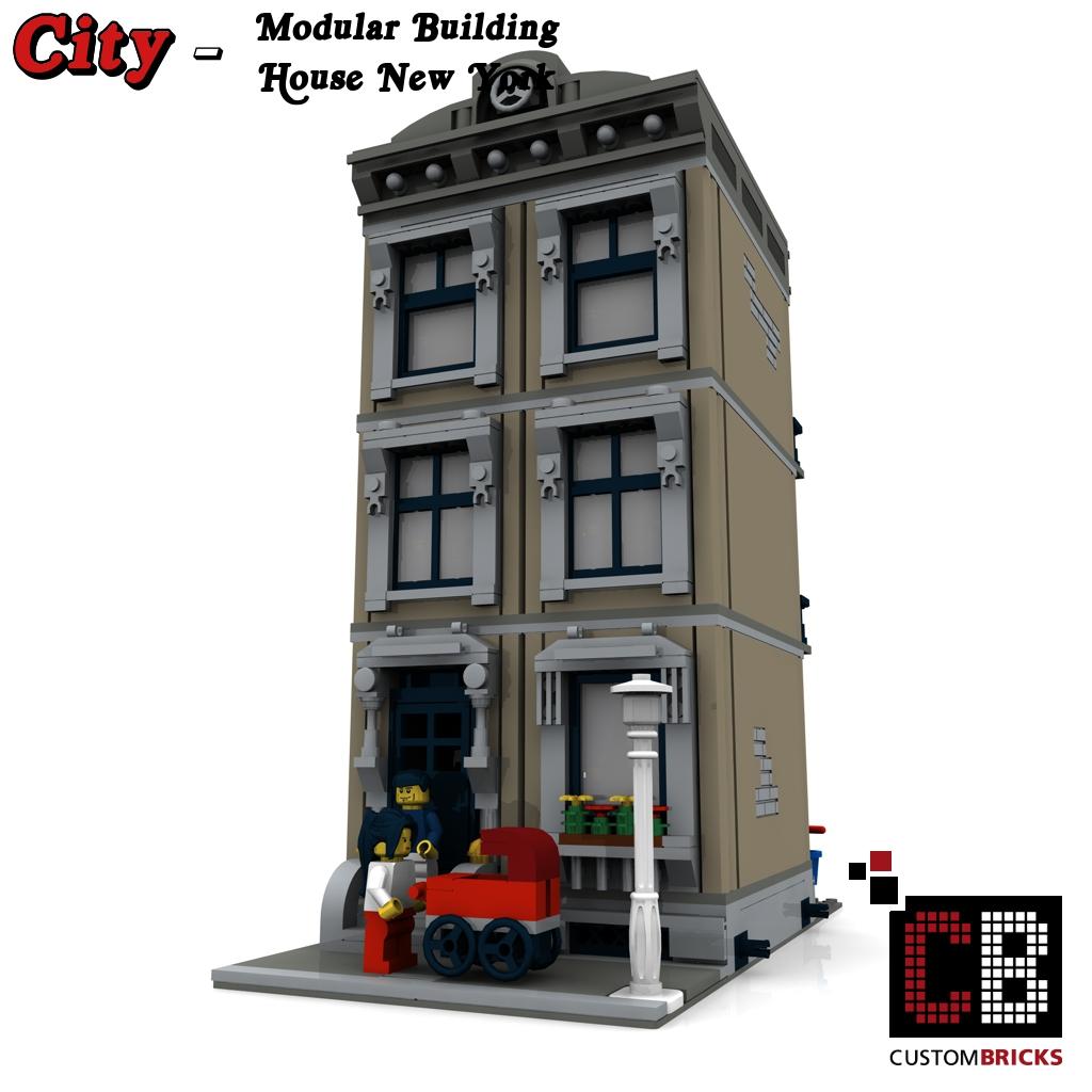lego city creator expert haus house geb ude building modular bauanleitung. Black Bedroom Furniture Sets. Home Design Ideas