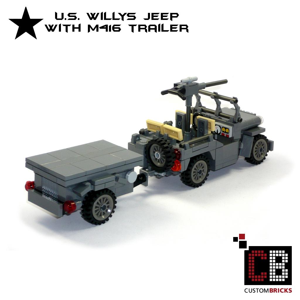 Custombricks De Lego Ww2 Wwii Wehrmacht Willys Jeep Mit