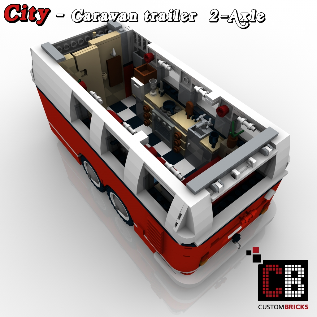 lego city trailer wohnwagen camper vw t1 bus 10220. Black Bedroom Furniture Sets. Home Design Ideas