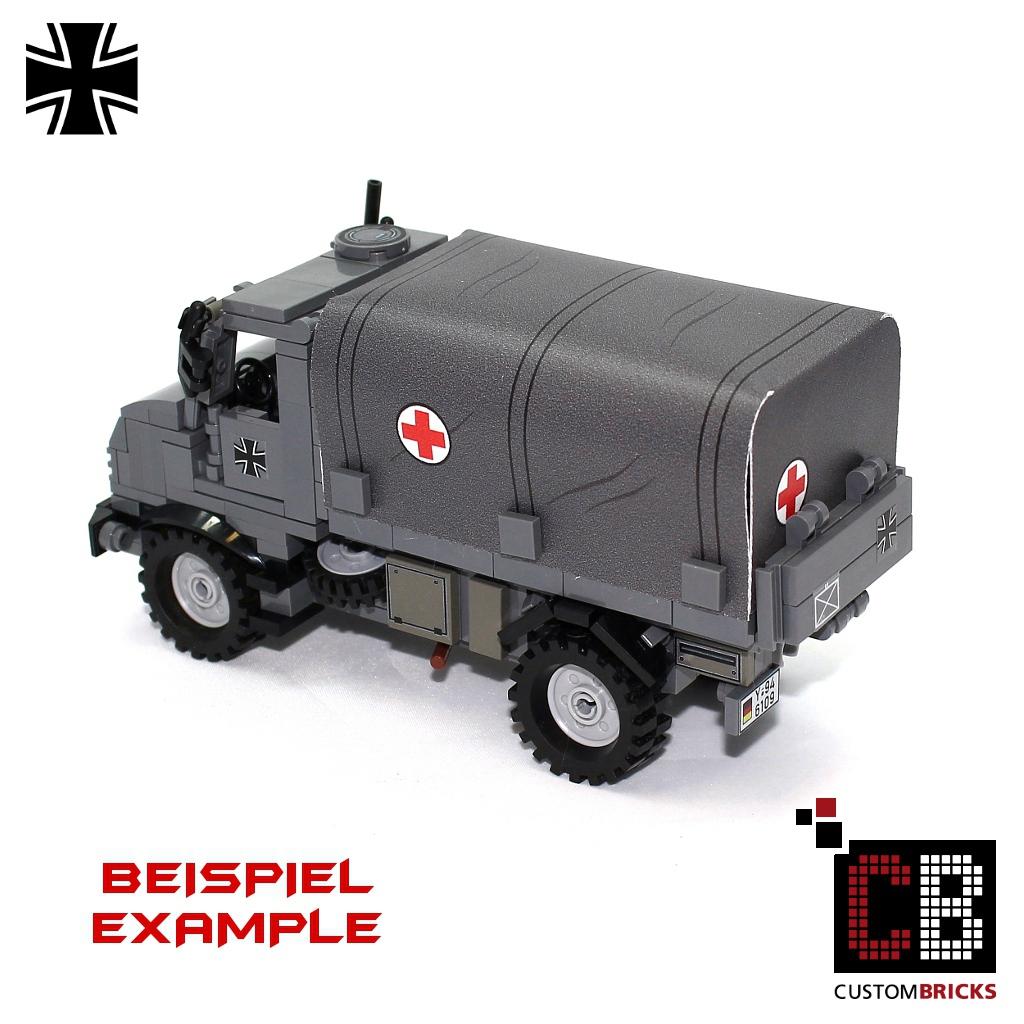 CUSTOMBRICKS.de - Lego Custom Sticker Decals Panzer Tank Fahrzeuge ... | {Sanitäter logo bundeswehr 79}