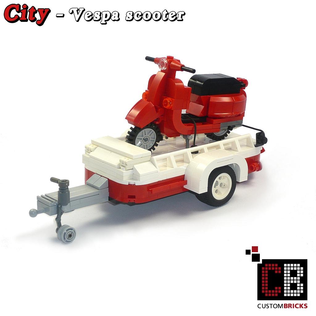 lego custom model luggage trailer lego. Black Bedroom Furniture Sets. Home Design Ideas