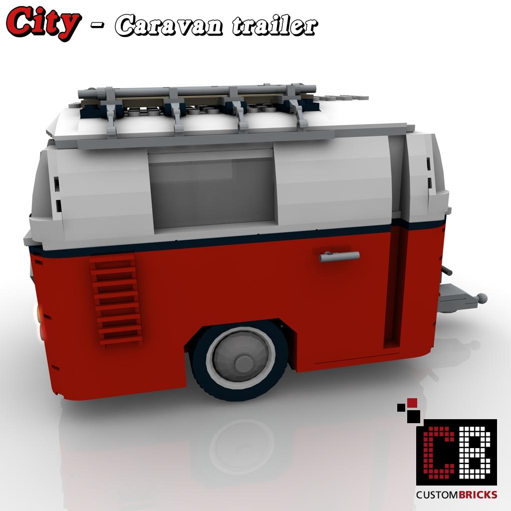 CUSTOMBRICKS.de - LEGO City Anhänger Wohnwagen Caravan ...