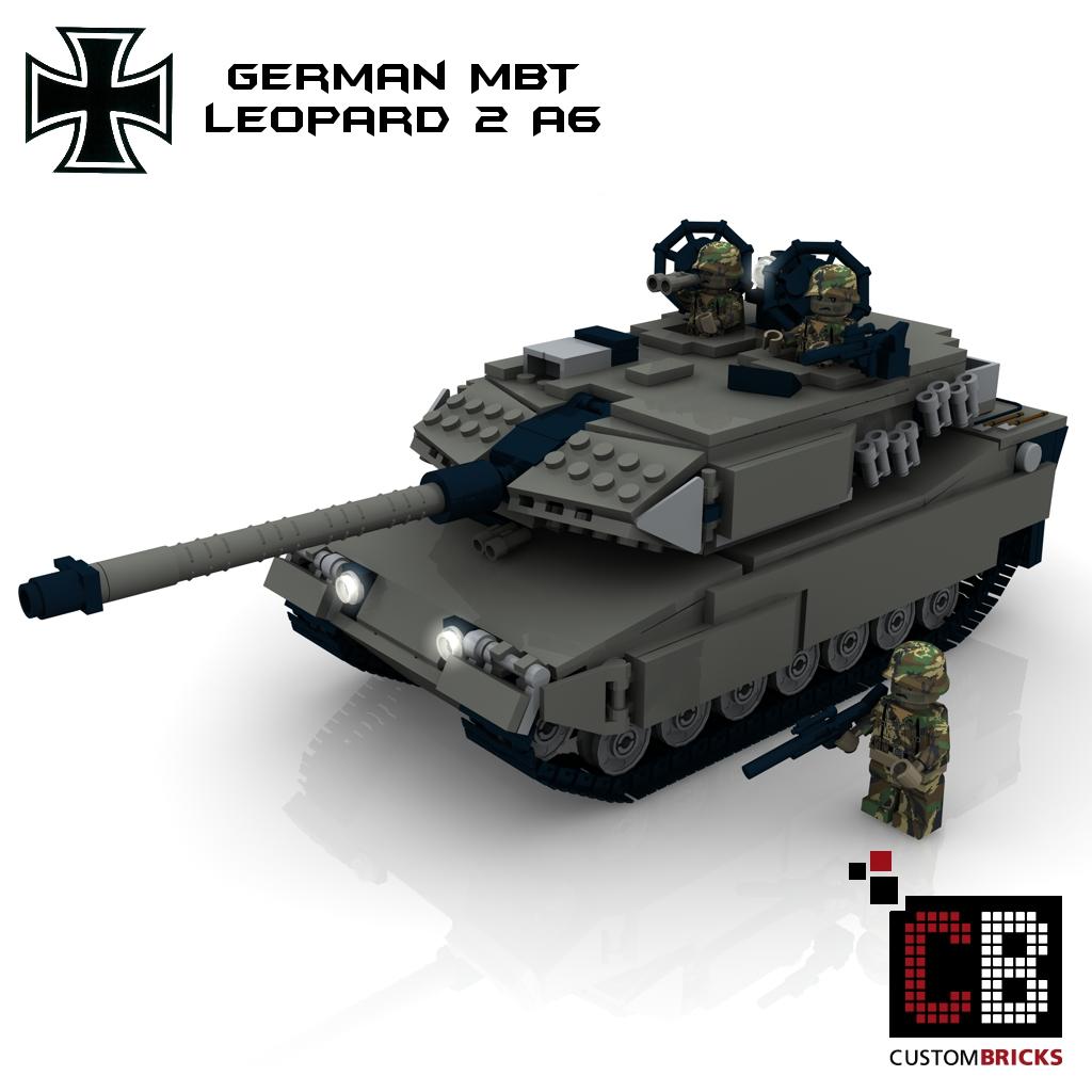 lego custom modern warfare bundeswehr panzer tank leopard 2 a6. Black Bedroom Furniture Sets. Home Design Ideas