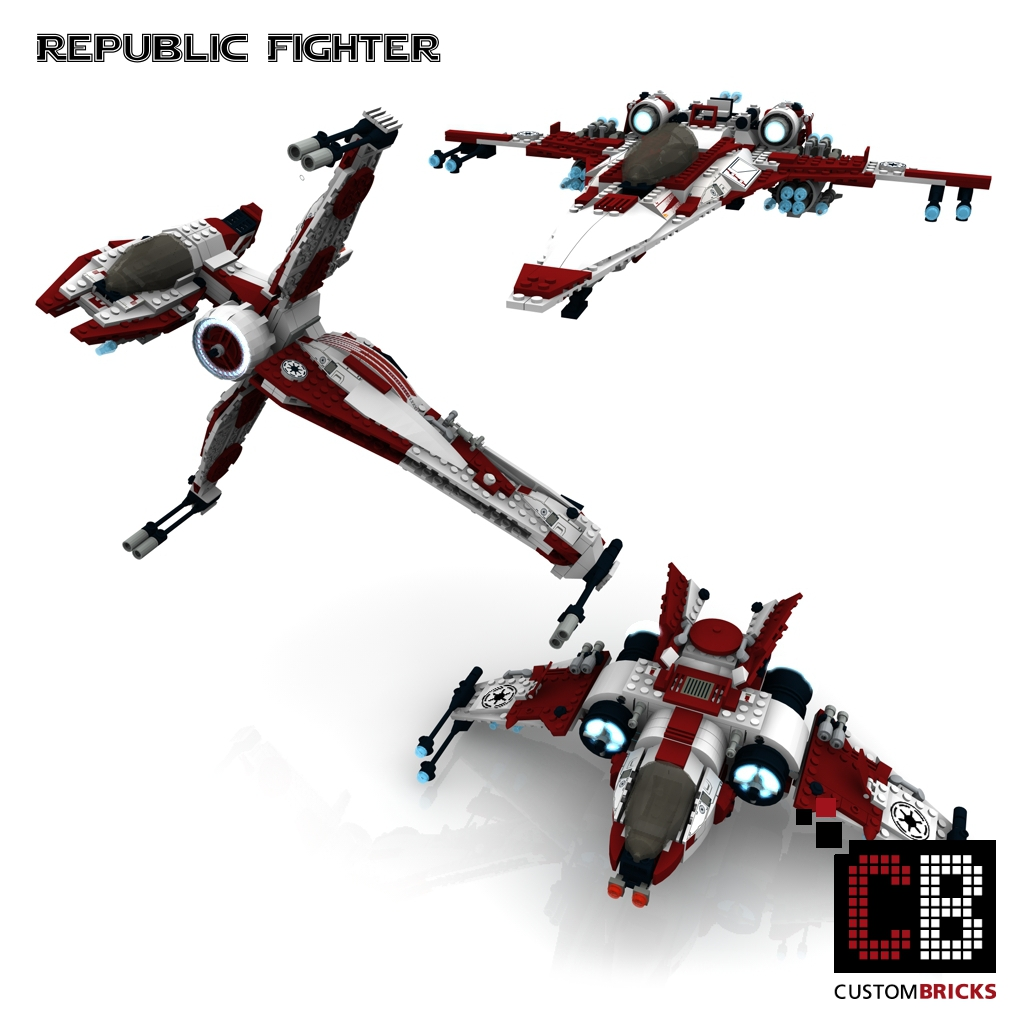 lego custom star wars republic fighter. Black Bedroom Furniture Sets. Home Design Ideas