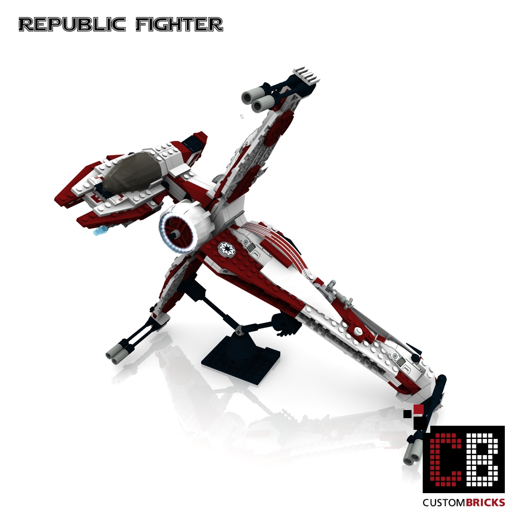 lego custom star wars republic fighter. Black Bedroom Furniture Sets. Home Design Ideas