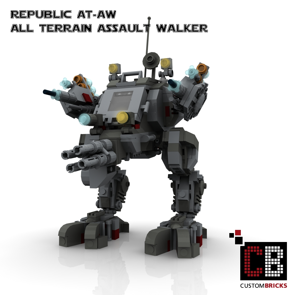 lego custom star wars at aw all terrain assault walker. Black Bedroom Furniture Sets. Home Design Ideas