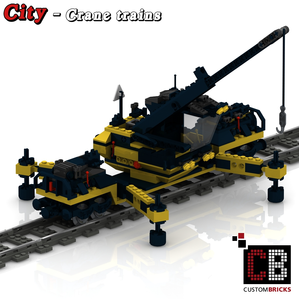lego custom zug kran und waggon bauanleitung train city eisenbahn train. Black Bedroom Furniture Sets. Home Design Ideas