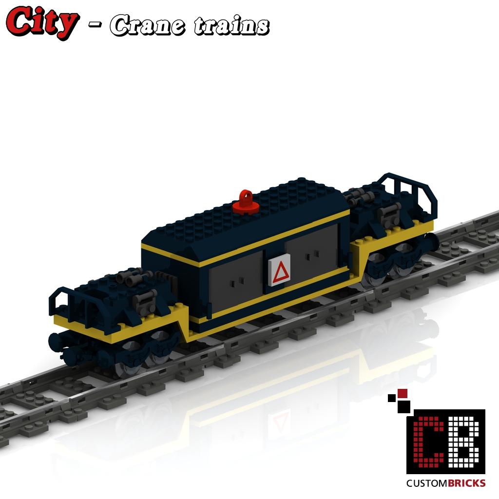 lego custom zug kran und waggon bauanleitung train city eisenbahn train. Black Bedroom Furniture Sets. Home Design Ideas