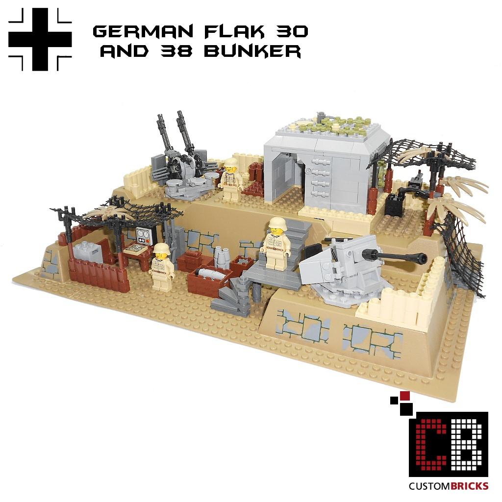 CUSTOMBRICKS.de - LEGO WW2 WWII Wehrmacht Bunker Flak-30 ...