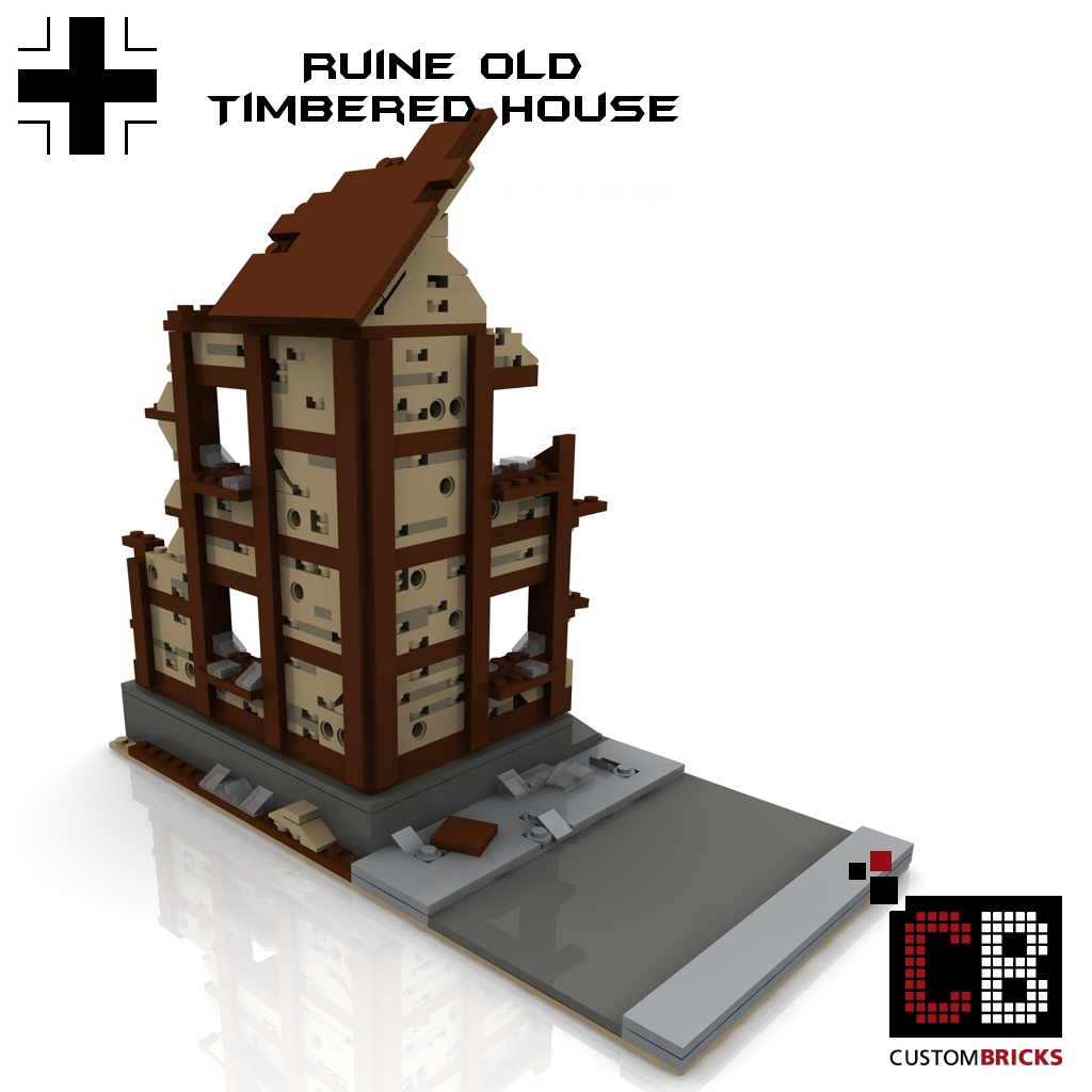 lego custom ww2 ruine gebaeude bunker. Black Bedroom Furniture Sets. Home Design Ideas