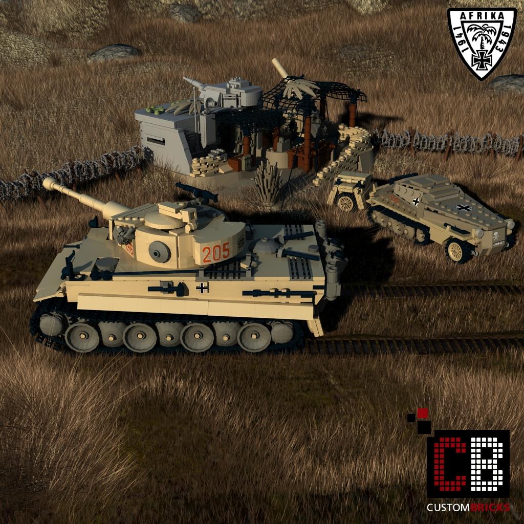 lego custom ww2 afrikakorps tiger panzer. Black Bedroom Furniture Sets. Home Design Ideas