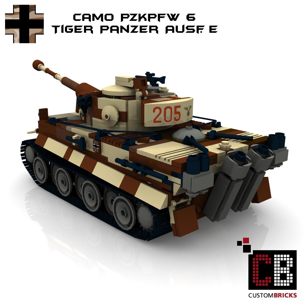 lego custom ww2 panzer camo pzkpfw vi ausf e tiger. Black Bedroom Furniture Sets. Home Design Ideas