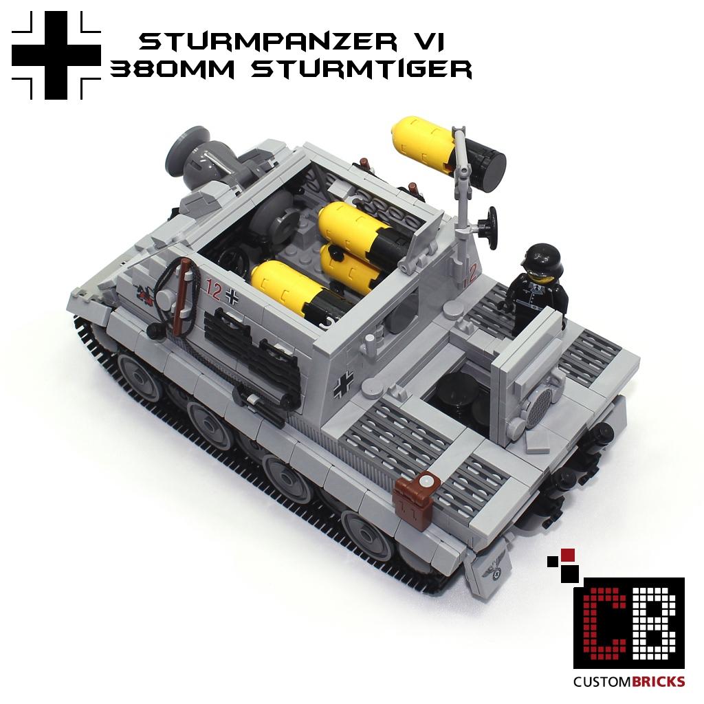 lego ww2 wwii panzer tank sturmtiger sturmpanzer sturmm rser 380mm 505 spzabt. Black Bedroom Furniture Sets. Home Design Ideas