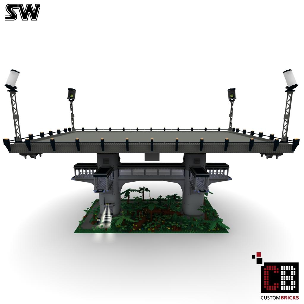 lego custom star wars custom ucs endor landingplatform. Black Bedroom Furniture Sets. Home Design Ideas