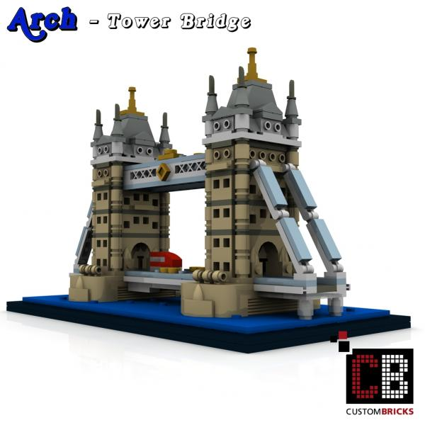 lego arch architecture serie tower bridge bauanleitung instruction custombricks. Black Bedroom Furniture Sets. Home Design Ideas
