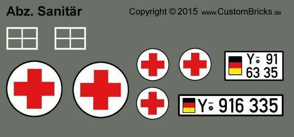 Sanitäter logo bundeswehr  CUSTOMBRICKS.de - Lego Custom Sticker Decals Panzer Tank Fahrzeuge ...