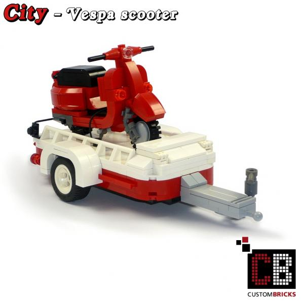 lego custom modell vespa roller mit. Black Bedroom Furniture Sets. Home Design Ideas