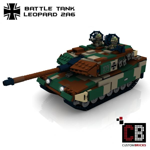 lego custom modern warfare bundeswehr panzer tank leopard 2 a6. Black Bedroom Furniture Sets. Home Design Ideas