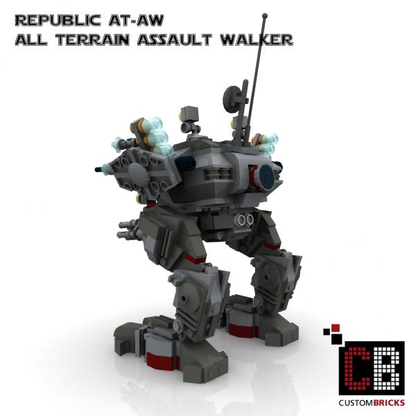 lego custom star wars at aw all terrain assault walker. Black Bedroom Furniture Sets. Home Design Ideas