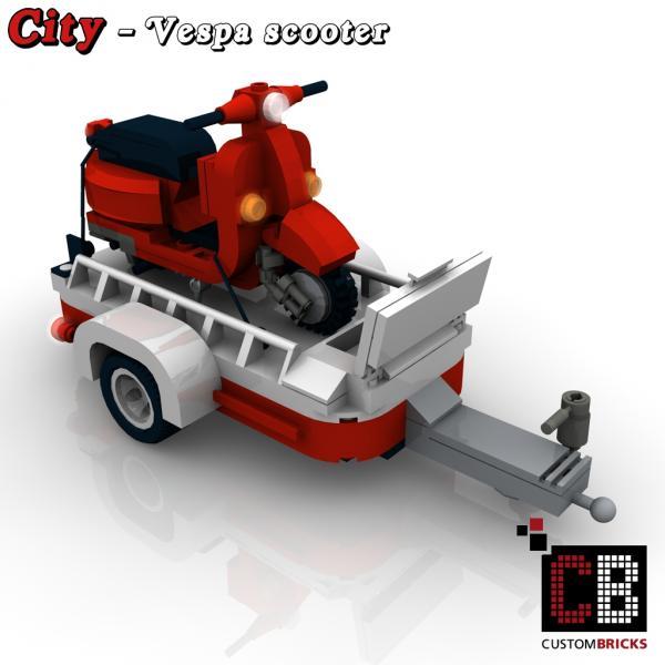 lego city vespa roller mit anh nger f r. Black Bedroom Furniture Sets. Home Design Ideas