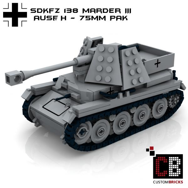 custom ww2 sdkfz 138 marder 3 panzer wwii. Black Bedroom Furniture Sets. Home Design Ideas