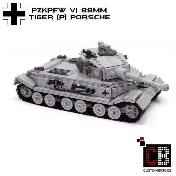 CUSTOMBRICKS.de - LEGO WW2 WWII Wehrmacht SdKfz Panzer Tank ...