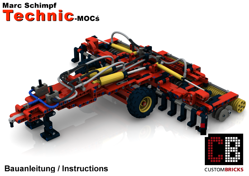 cb eigenbau bauanleitung claas pneumatic grubber f r lego technic 42054 steine ebay. Black Bedroom Furniture Sets. Home Design Ideas