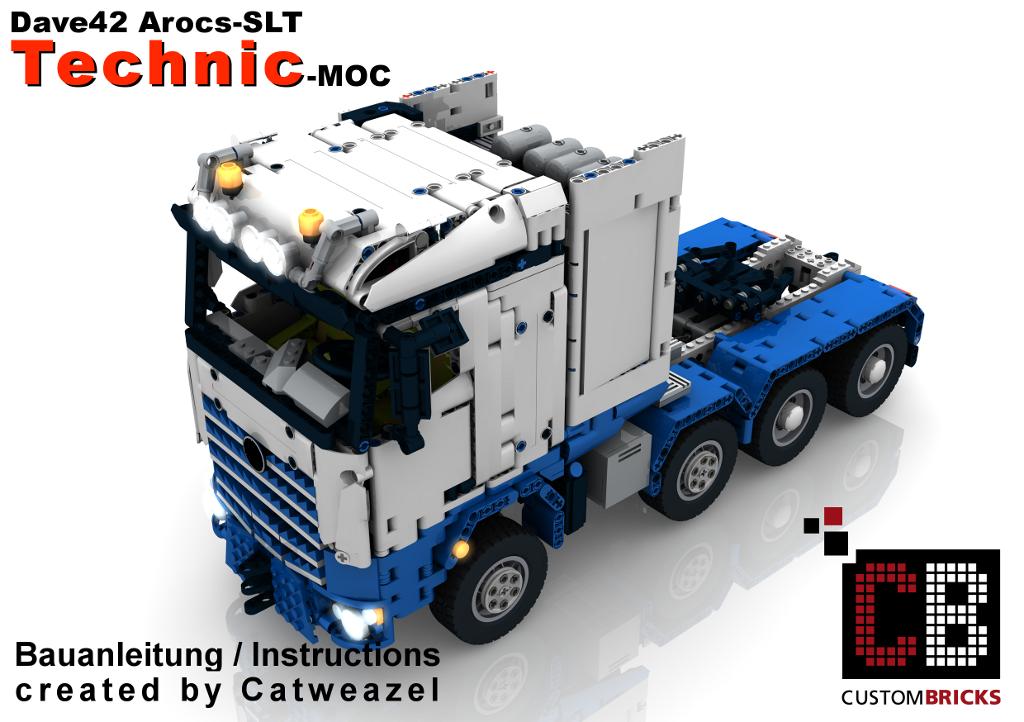 cb eigenbau bauanleitung arocs slt rc truck moc f r lego. Black Bedroom Furniture Sets. Home Design Ideas