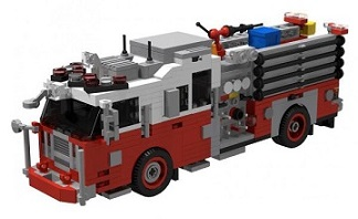 US fire trucks
