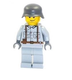 Britischer Custom Soldat tan Figur UV bedruckt aus LEGO® Teilen