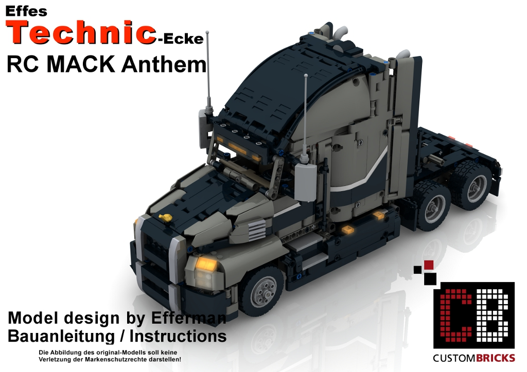 cb eigenbau bauanleitung mack full rc umbauanleitung lego. Black Bedroom Furniture Sets. Home Design Ideas