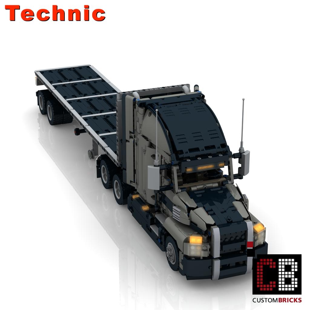 CB Eigenbau Bauanleitung MACK RC Container trailer LEGO® Technic 42078 Steine