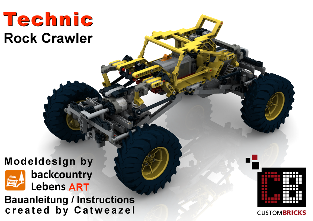 cb eigenbau bauanleitung full rc rock crawler moc lego. Black Bedroom Furniture Sets. Home Design Ideas