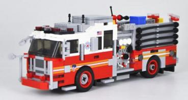BB - US Fire Truck Seagrave Attacker HD red / white