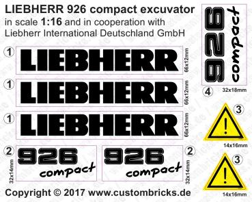 Custom Sticker M 1:16 - LIEBHERR 926 compact excuvator