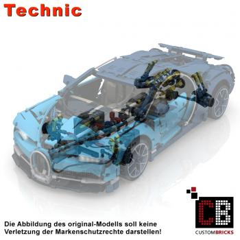 Custom 42083 BUGATTI - RC modification parts oS