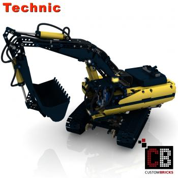 Custom RC crawler Excavator with Pneumatic